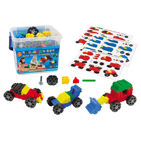 Конструктор Morphun Junior Starter 12 Vehicle Set «Машины»